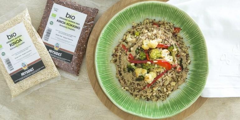 Quinoa with veggies and tahini dressing_400_800_crp